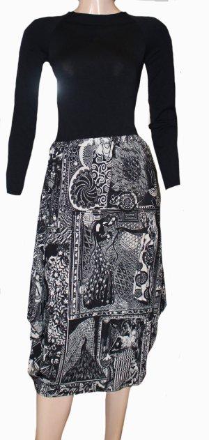 Jean Paul Gaultier Asymmetry Skirt black-white viscose