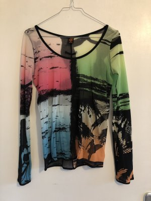 Jean Paul Gaultier Top long multicolore