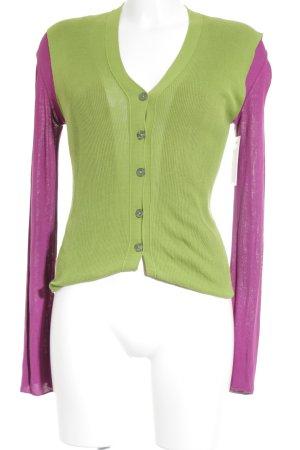 Jean Paul Gaultier Twin Set punto violeta-verde hierba look casual