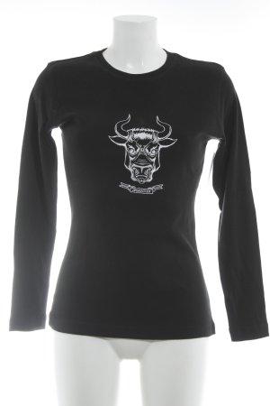 Jean Paul Gaultier Sweatshirt schwarz-weiß Casual-Look
