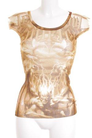 Jean Paul Gaultier T-Shirt abstraktes Muster Transparenz-Optik