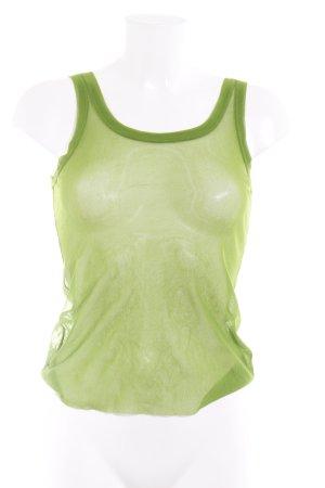 Jean Paul Gaultier Trägertop grün Transparenz-Optik