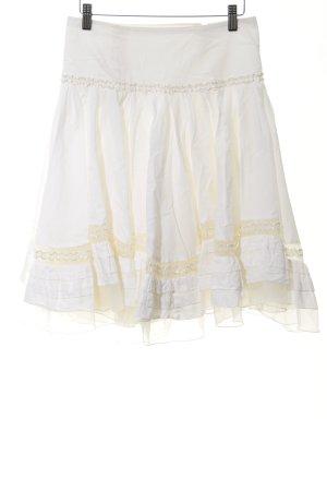 Jean Paul Gaultier Falda de tul blanco puro look con capas