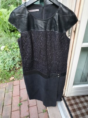 Jean Paul Leren jurk zwart