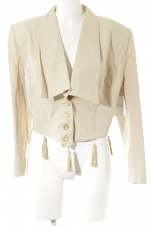 Jean Paul Kurz-Blazer creme-goldfarben Casual-Look