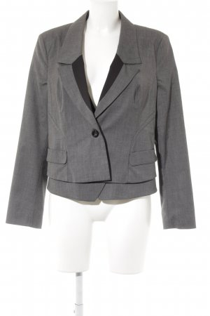 Jean Paul Long-Blazer grau-schwarz Karomuster Business-Look