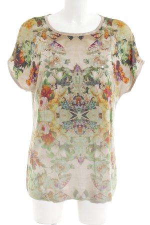 Jean Paul T-Shirt abstraktes Muster Casual-Look
