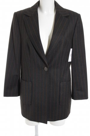 Jean Paul Wool Blazer anthracite-russet striped pattern business style