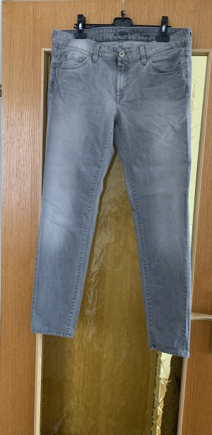 7 For All Mankind Vaquero de talle alto gris claro