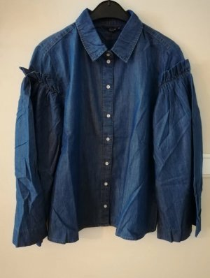 Only Jeans blouse wit-blauw