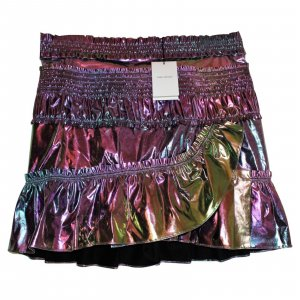 'Jeanne' Iridescent Metallic Isabel Marant Mini Skirt