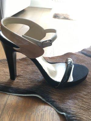 Jeannot Plateau Riemchen Sandaletten mit schwarzem Absatz
