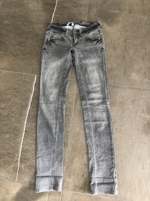 Mango Tube jeans grijs