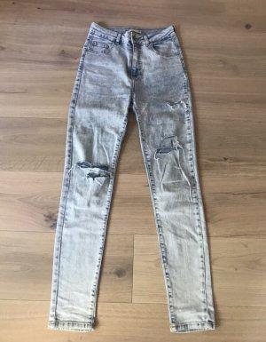 Pull & Bear Jeans met rechte pijpen azuur-blauw Lycra