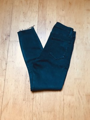 Abercrombie & Fitch High Waist Jeans petrol