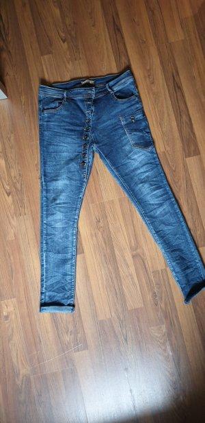 Zac & Zoe Stretch jeans blauw Katoen