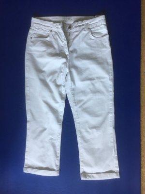 7/8-jeans wit Katoen
