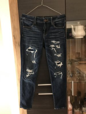 American Eagle Outfitters Skinny jeans blauw Katoen