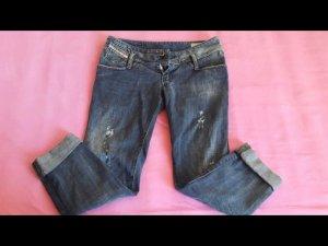 Diesel Jeans a 7/8 azzurro