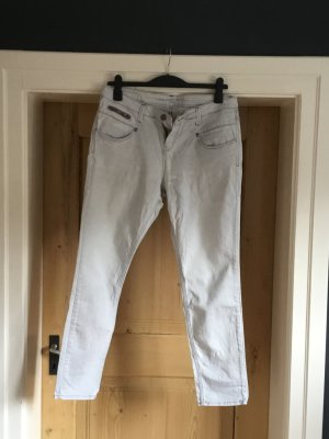 s.Oliver Baggy Jeans light grey cotton
