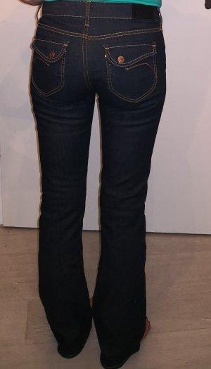 H&M Jeans bootcut orange clair-bleu foncé