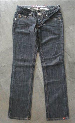 Jeans 28 Short 28/30 Dark Denim Jeans Gerader Schnitt Bootcut