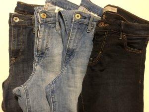 Hennes Collection by H&M Stretch Jeans dark blue-cornflower blue