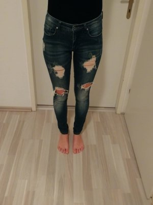Only Skinny jeans donkerblauw