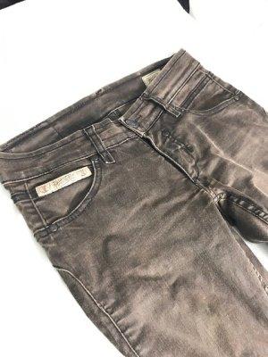 Herrlicher Jeans a zampa d'elefante marrone scuro