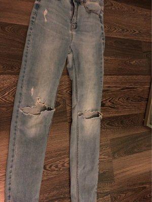 Pimkie Hoge taille broek lichtblauw-azuur