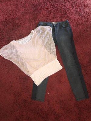 Jeans 40 Tunika M rosa