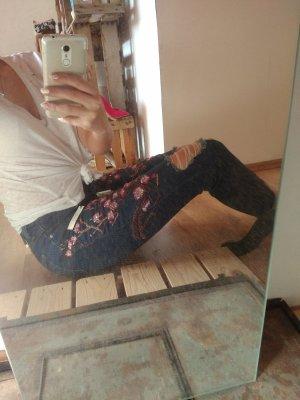 Topshop Pantalón azul acero