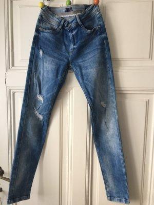 Zara Trafaluc Stretch Jeans blue-azure