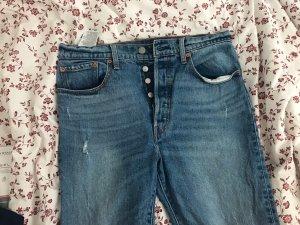 Levi's Pantalone a vita alta blu acciaio-blu