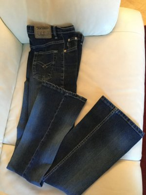 Stretch jeans donkerblauw Katoen