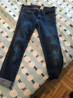 H&M Jeans da motociclista blu scuro