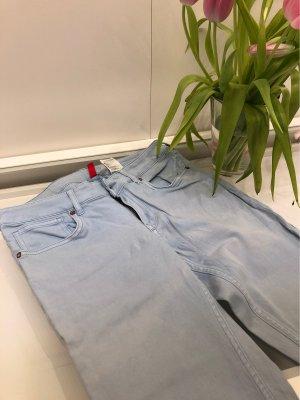 H&M Low Rise Jeans pale blue-azure
