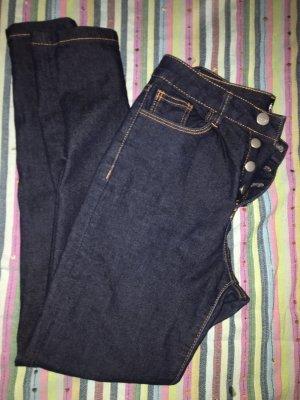 Promod Pantalón de cintura alta azul oscuro