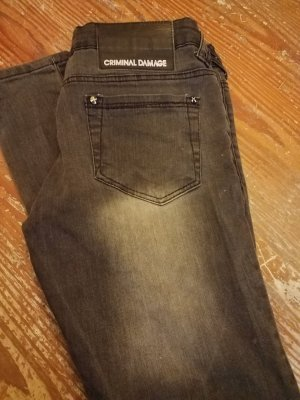 Criminal Damage Jeans nero