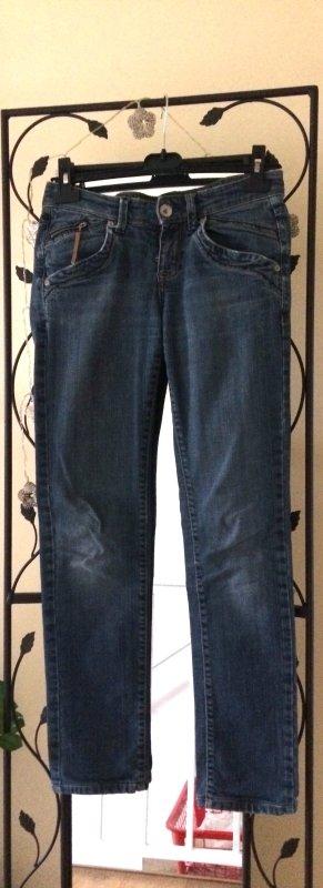 Jeans elasticizzati blu acciaio