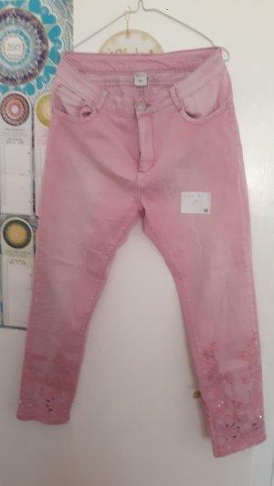 Pantalon 7/8 rose clair