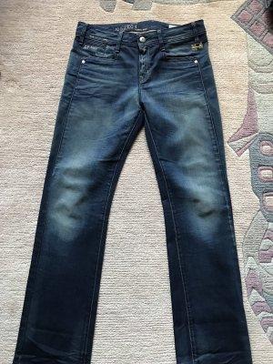 G-Star Raw Jeans met rechte pijpen donkerblauw
