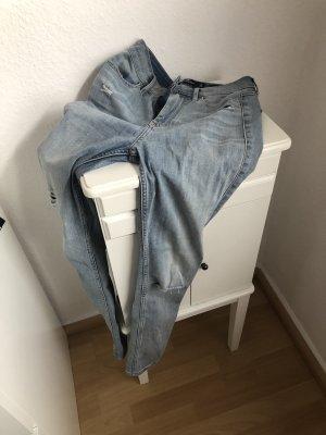 Hollister Jeans vita bassa azzurro
