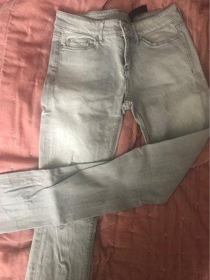 BDG Tube jeans lichtgrijs