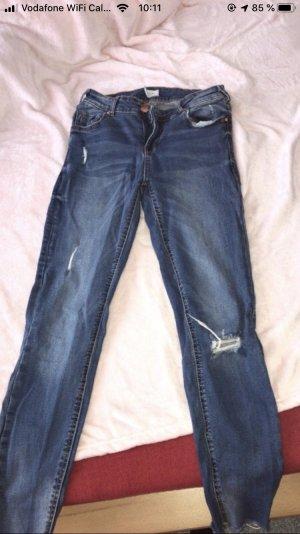 Amisu Tube jeans donkerblauw