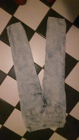 Jeans taille basse bleu azur