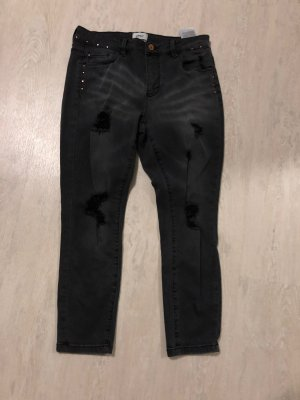Only 7/8 Length Jeans black-anthracite