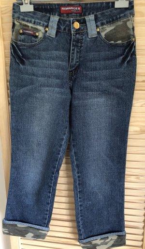 7/8-jeans donkerblauw-groen-grijs