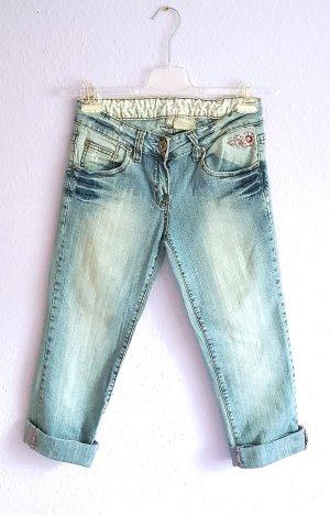 Jeans 7/8 Washed Look Denim Gr. M