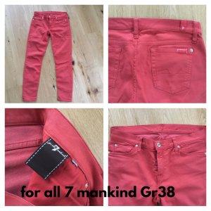 7 For All Mankind Pantalón de cinco bolsillos naranja oscuro Algodón